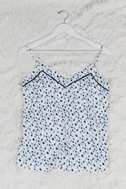 Cami Popping Detail White