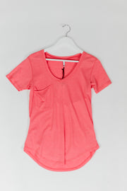 Pocket Tee- Sugar Coral