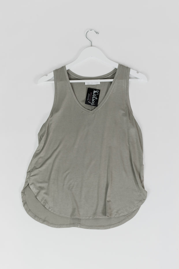 Scoop Neck Tank Smoke Green