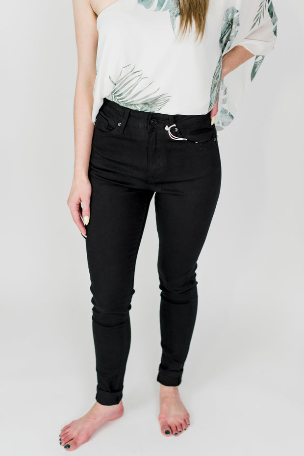 High Rise Black KanCan Skinny