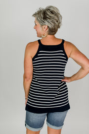 Stripe Halter Tank Top