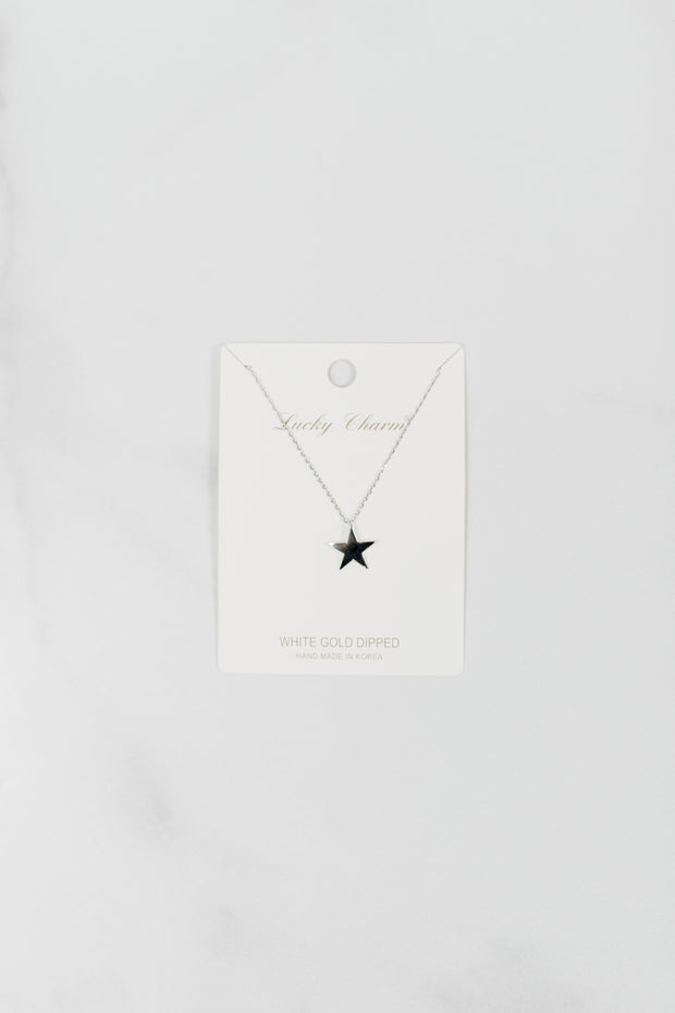 Dainty Large Star Necklace
