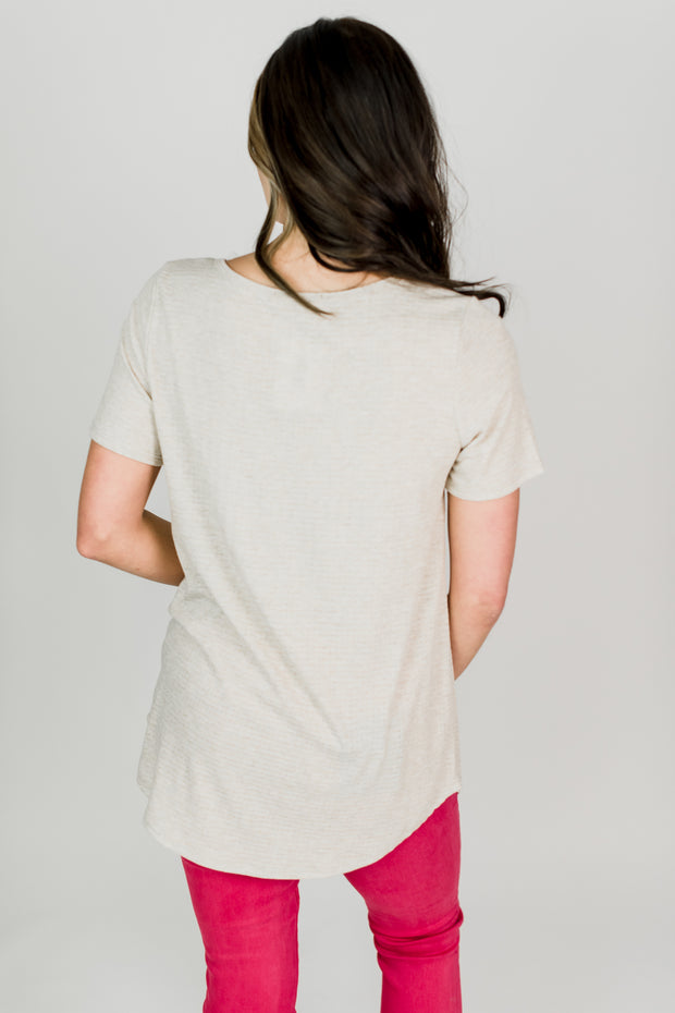 Comfy Three Button Tee