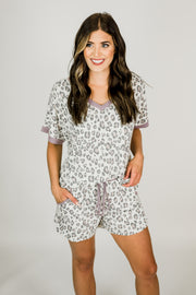 Leopard Lavender Lounge Wear Set
