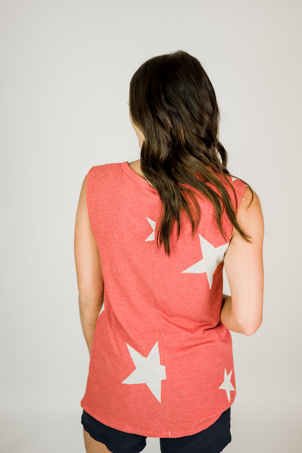 Strappy Front Bold Star Tank