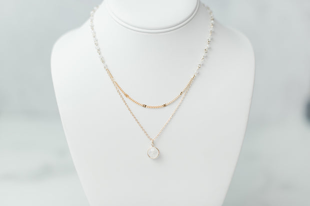 Clear Dainty Layers Necklace