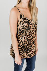 Animal Print Side Slit Cami