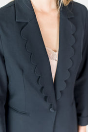 Scalloped Collar Blazer