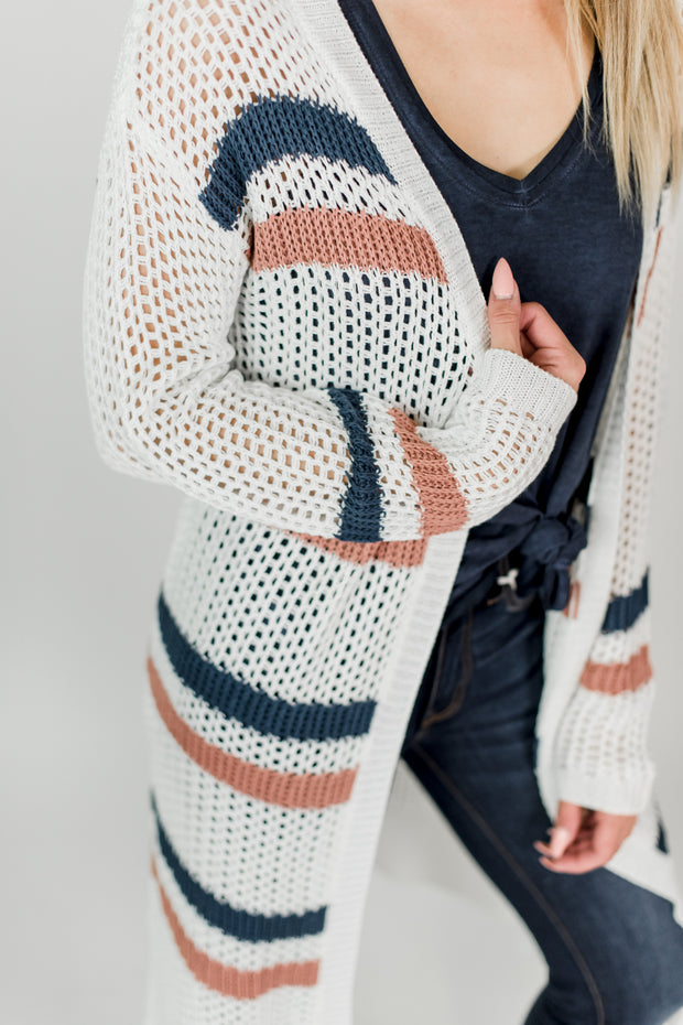 Striped Sweater Cardigan