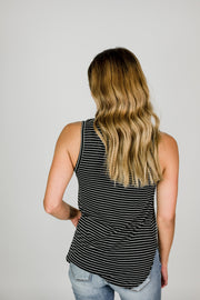 Basic Striped V-Neck Tank
