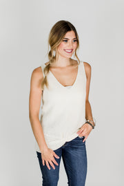 Twisted Front Sweater Tank