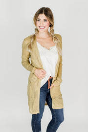 Light Weight Ribbed Cardigan