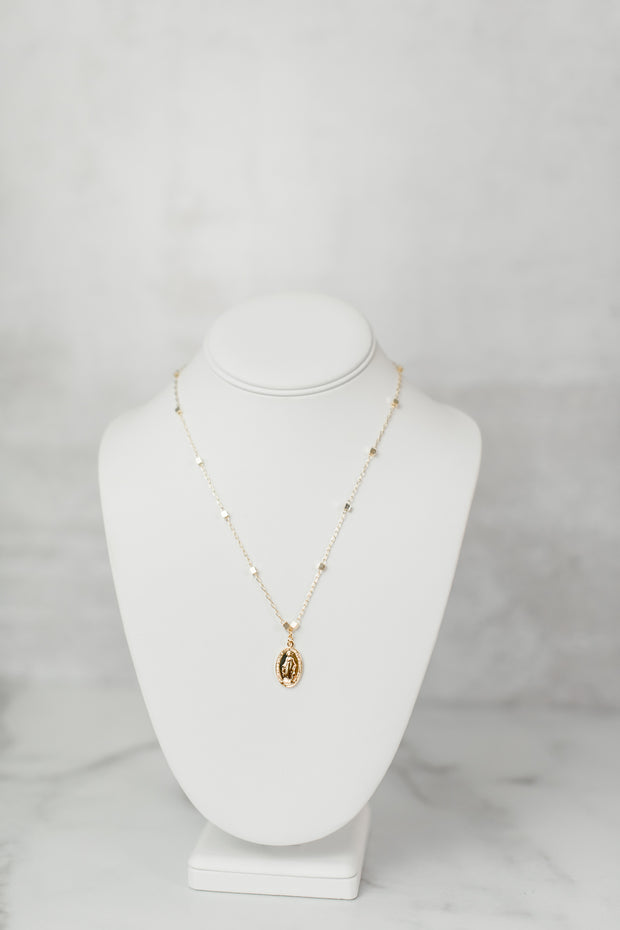 Perfect Layer Necklace w/Rosary Coin