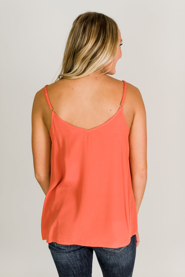 V-Neck Adjustable Strap Tank
