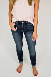 KanCan Mae Mid Rise Ankle Skinny