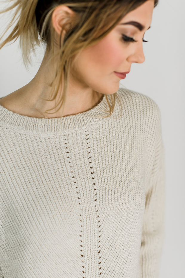 Pointed Pattern Knit Sweater