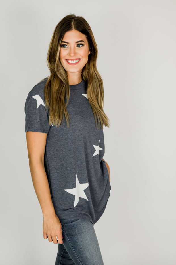 Soft Terry Knit Star Tee