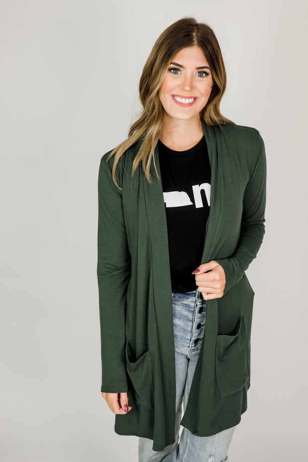Basic Lightweight Pocket Cardigan