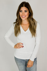 Basic Super Soft Long Sleeve V-Neck