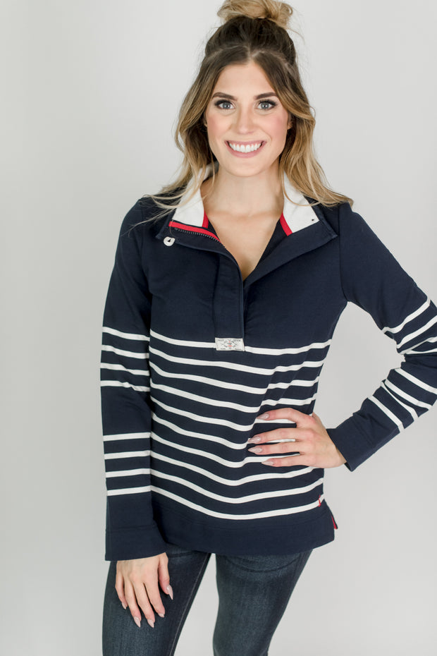 Joules Saunton Button Neck Sweatshirt
