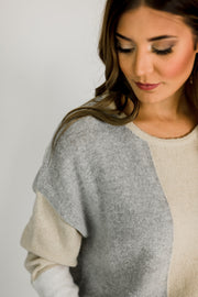 Color Block Natural Sweater