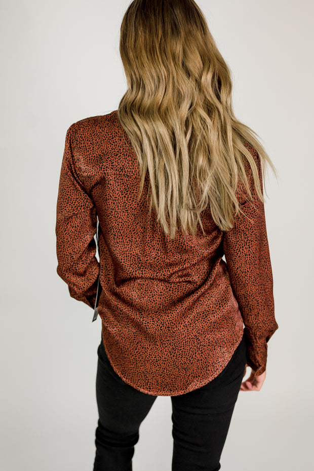 Liverpool Silky Mini Leopard Button Up