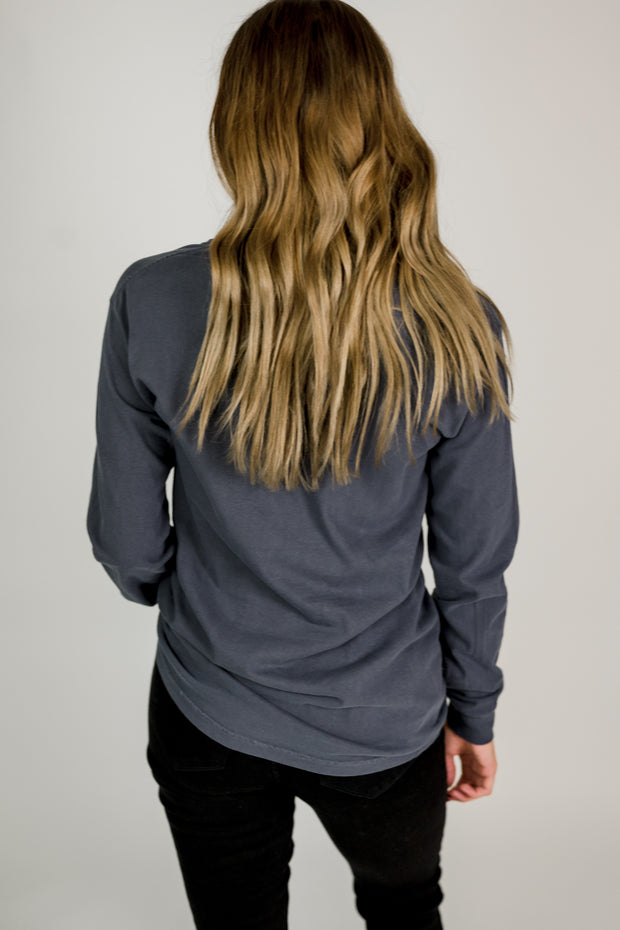 Distressed Football Long Sleeve Top