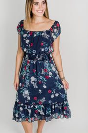 Cap Sleeved Midi Dress