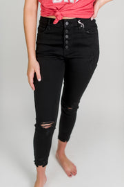 KanCan 5 Button Distressed Jean