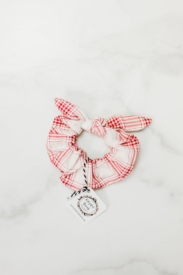 Ruby Red Threads Bow Scrunchies