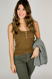 Soft Button Up Tank