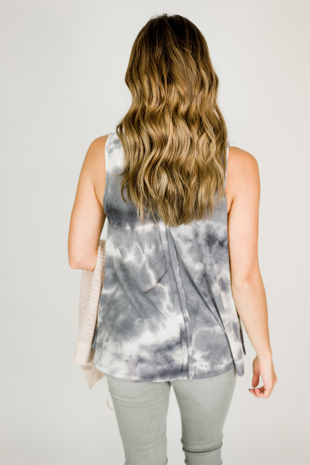 Faded Tie Dye Flowy Top