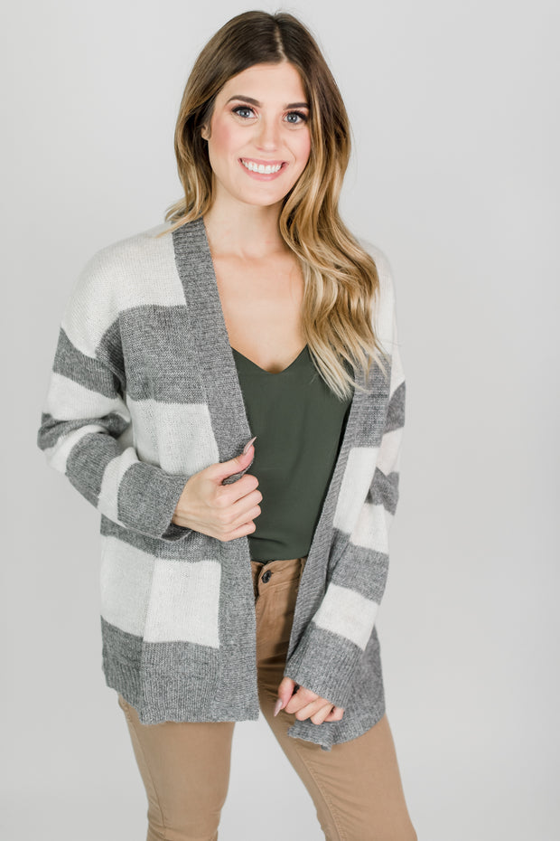 The Jewel Striped Cardigan