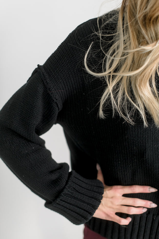 Cuffed Long Sleeve Sweater Top