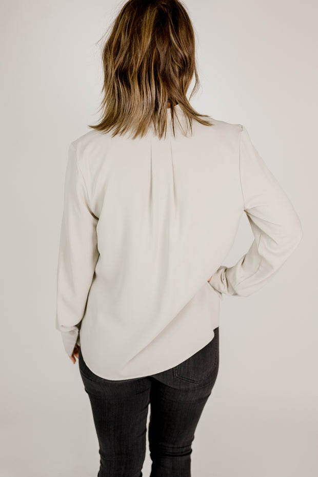 Classic Front Pleat Woven Top
