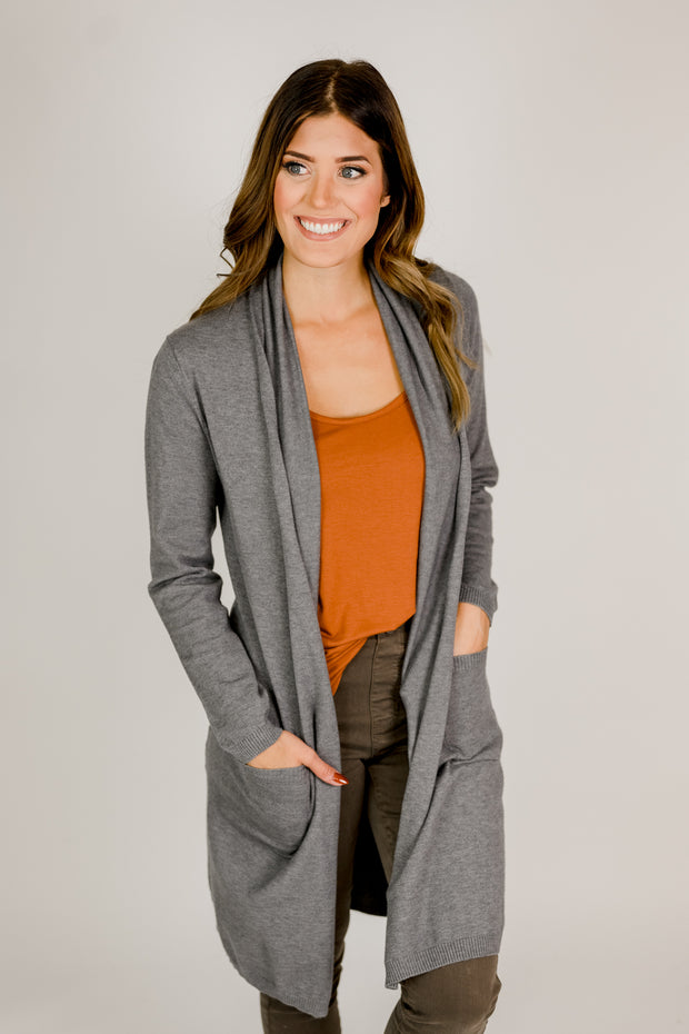 Basic Soft Pocket Cardigan