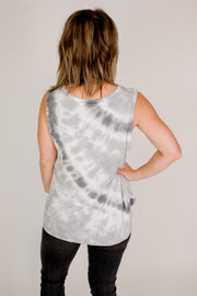 V-Neck Muted Tie Dye Tank
