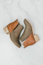 Shield Cognac Booties