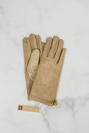 Stitch Point Suede Gloves