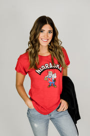 Nebraska Herbie Rolled Sleeve Tee