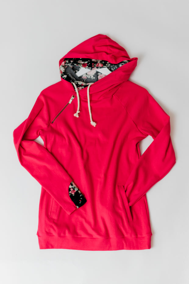 Red Floral Doublehood