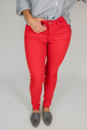 KanCan Autumn Red Skinny Jeans