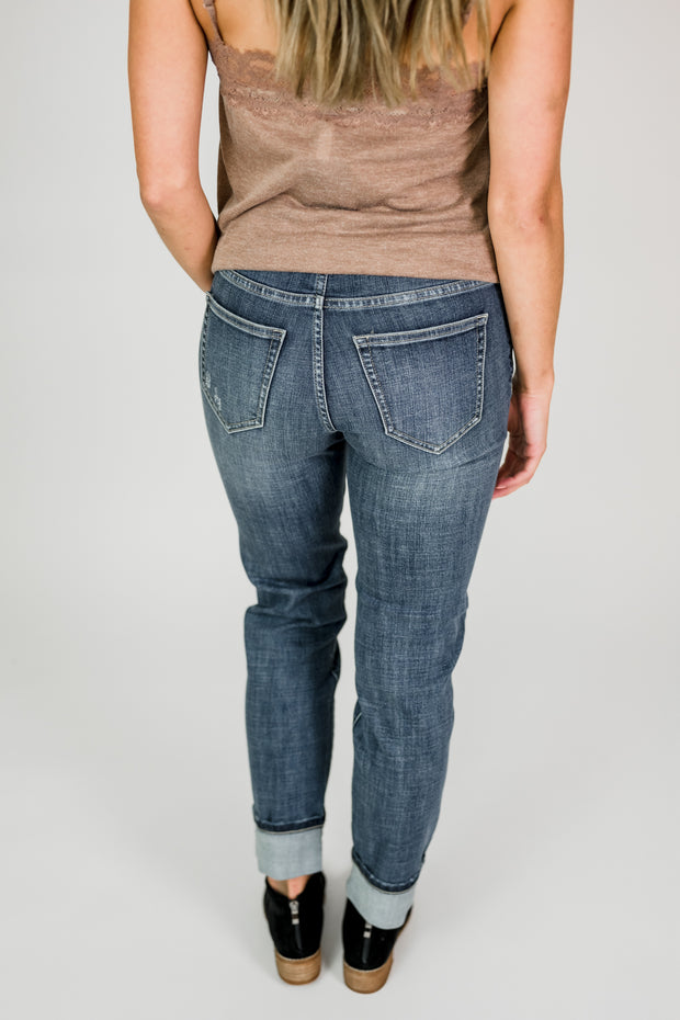 Liverpool Marley Girlfriend Cuffed Jeans