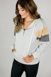 Half-Zip Color Block Pullover