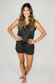V-Neck Tank Loungewear Set