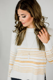 Striped Dimensions Sweater