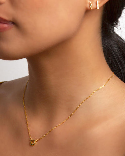 Disc 18K Gold Vermeil Necklace
