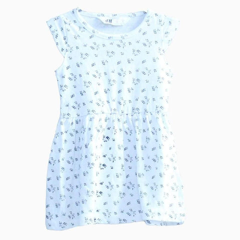HNM leaf pattern white Dress