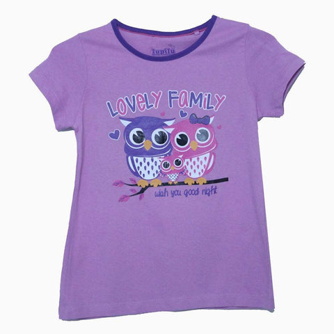 Lupilu Lovely family light purple girls tshirt