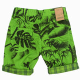 Orchestra Green All Over Leaves Boys Cotton Short